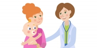 flat-female-doctor-infant-baby-with-mother-vector-17909705 - ГБУЗ МО Талдомская ЦРБ